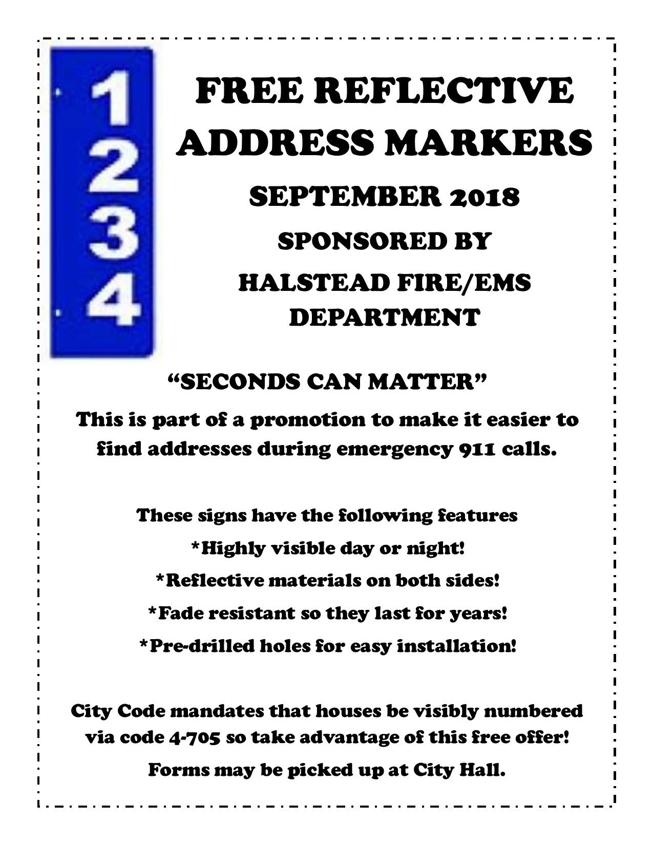 Free Address Marker September